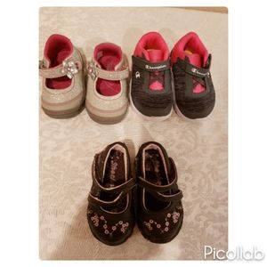 Lot of 3 Baby Girl Shoes